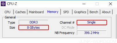 CPU-Zで増設したメモリの情報を確認