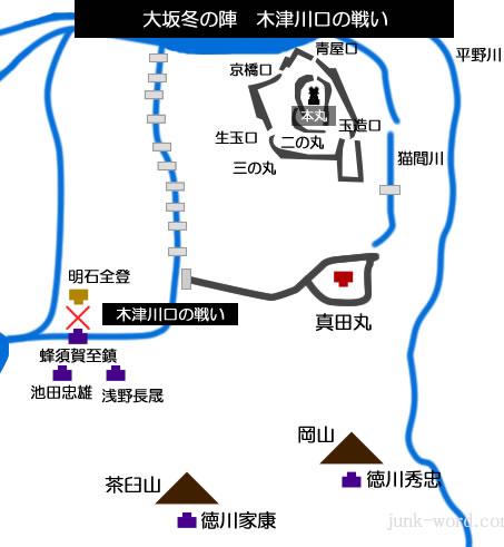 大坂冬の陣 木津川口の戦い布陣図