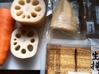 鶏肉とレンコンの煮物(煮しめ) 材料