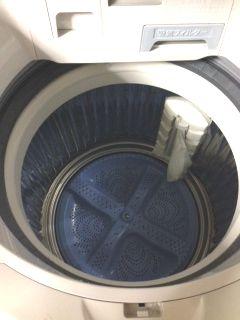 全自動洗濯機のカビ取り、臭い取り、除菌が完了