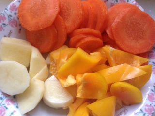 トマトチキンカレー 材料をカット2