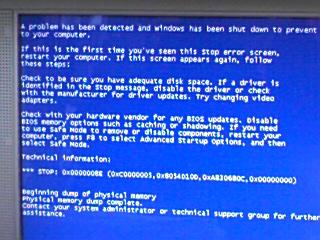 Windows ブルースクリーン