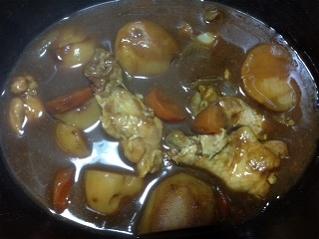 チキンカレーの作り方9 煮込み完了