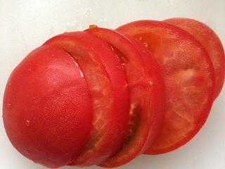 ミートソースバーガ作り方4  トマト