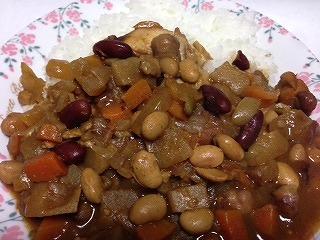豆のカレーライスです