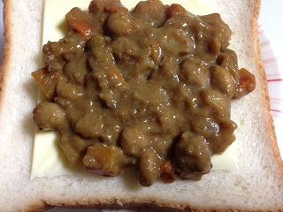 ホットサンドの具 豆カレー