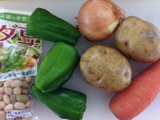 豆 スープ レシピ1 材料