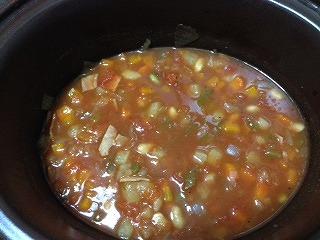 豆 スープ レシピ6 スロークッカー