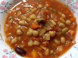 豆 スープ レシピ7 盛り付け