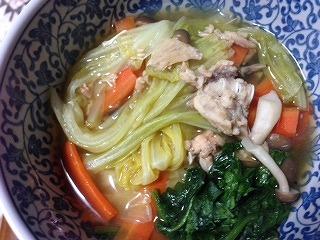 鮭缶レシピ 野菜スープ 完成