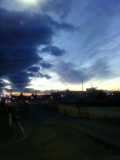 紺碧の夕空