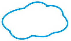 イラストレーターCC「膨張ツール」で雲、吹き出しを作成