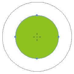 イラストレーターCC「クラウンツール」ブラシの中心と円の中心