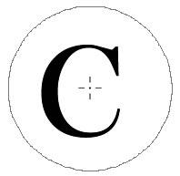 「クラウンツール」アルファベットをアウトライン化
