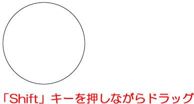 イラストレーターCC 「楕円形ツール」で正円を作成