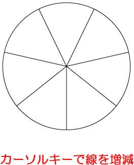 イラストレーターCC 同心円の分割線を増減