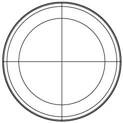 同心円の分割、円弧の分割、楕円形から複合パスを作成