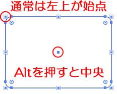 イラストレーターCC 角丸長方形の始点を中心にする