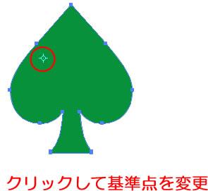 イラストレーターCC「回転ツール」回転の中心となる点はクリックで変更できる
