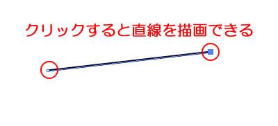 イラストレーターペンツールで直線を描く