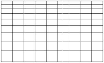 長方形グリッドツールオプションの値を入力