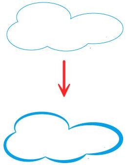 イラストレーターCC「線幅ツール」で雲を作成