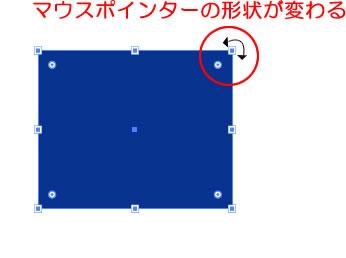 バウンディングボックス マウスポインターの形状が変わる