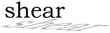 イラストレーターCC  文字(テキスト)に「シアーツール」を適用