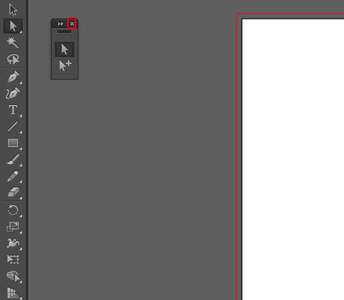 イラストレーター ツールをパネルに戻す