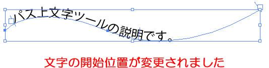 「パス上文字ツール」文字の開始位置が変更されました