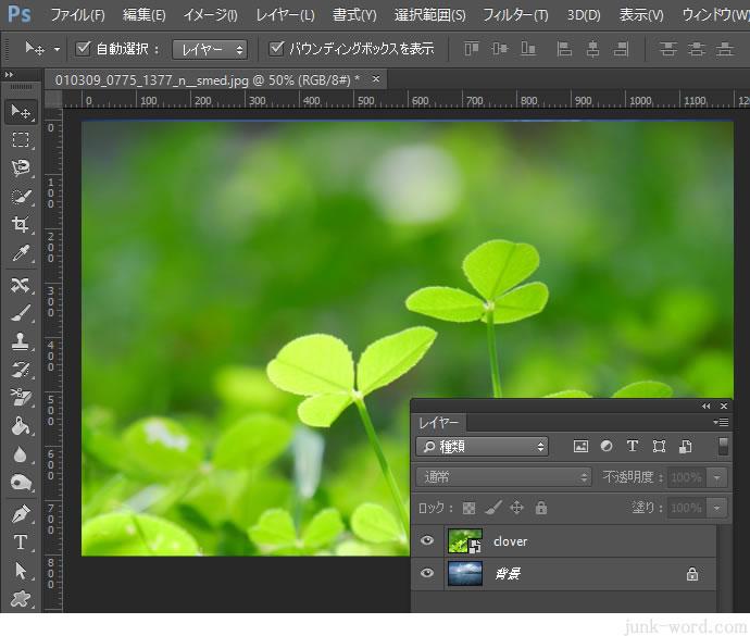 photoshop レイヤーに画像をコピーするとサイズ(大きさ)が変わる