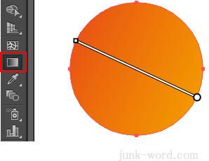 イラレ グラデーションツールで向きを変更