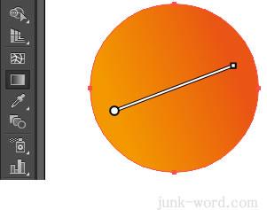 イラストレーターCC グラデーションスライダーで向きを変更