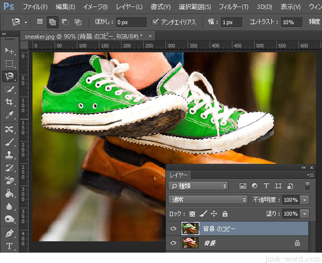 色の置き換えと自然な彩度で写真を補正