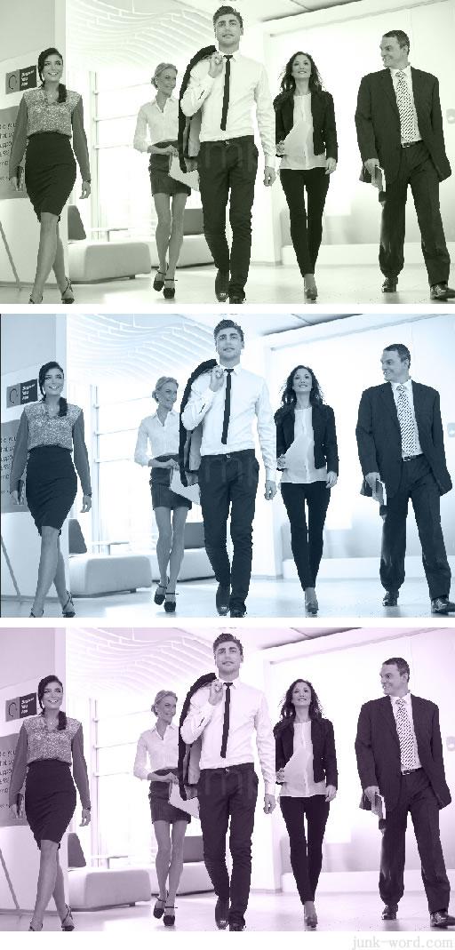 photoshopで加工したモノトーン写真の比較