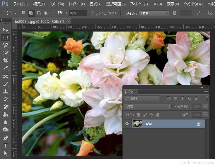 フォトショップCC 写真のサイズを変更 解像度の設定