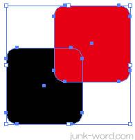 イラストレーターCC「シェイプ形成ツール」オブジェクトを選択